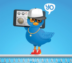 Yo-Twitter-Bird-On-Fence
